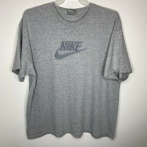SOLD Mens XXL Grey Nike Spellout Swoosh Logo Shirt
